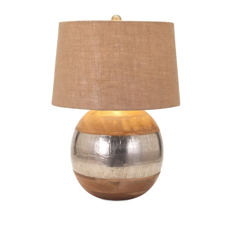 IMAX Nessa Wood and Metal Clad Lamp (71821)