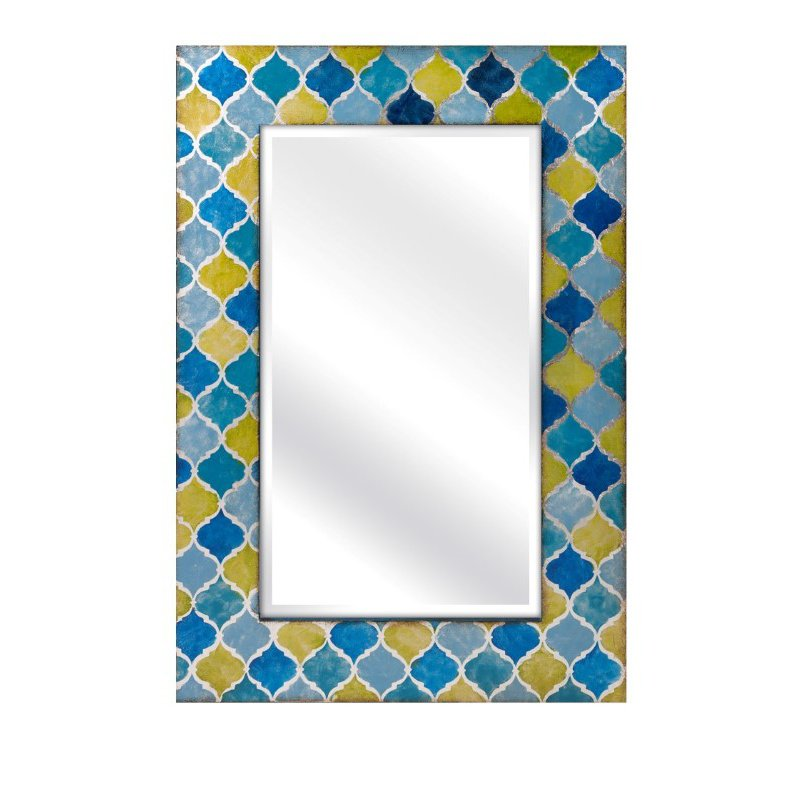 IMAX Penelope Blue and Green Mirror (10437)