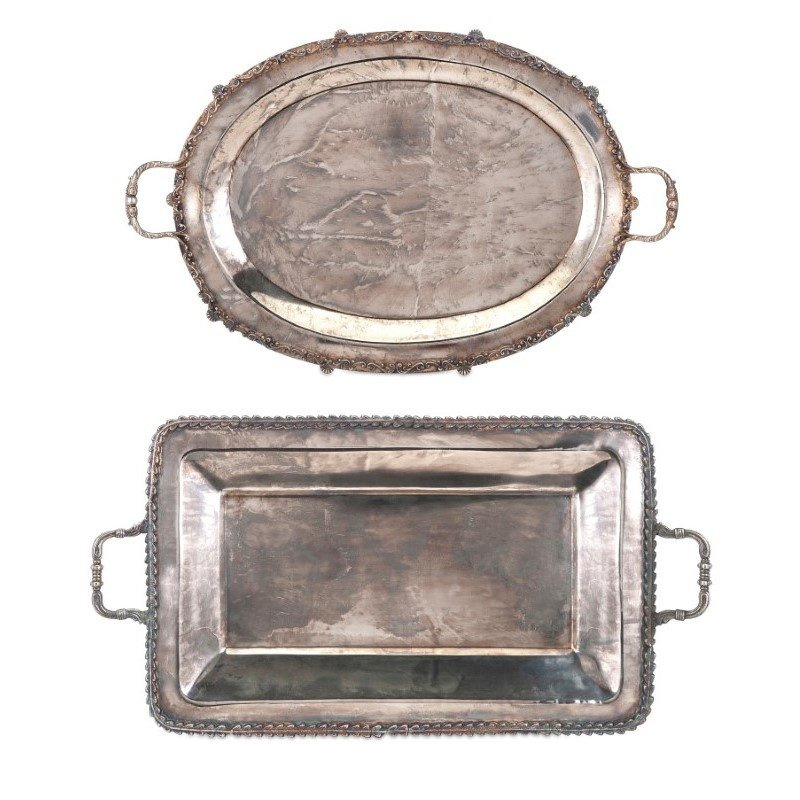 IMAX Poppy Stainless Steel Serving Trays - Set of 2 (A0281691)