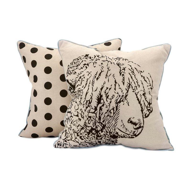 IMAX Sampson Sheep Embroidered Pillow (97333)