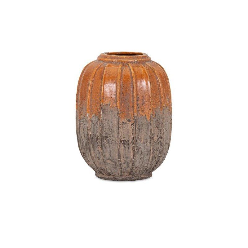 IMAX Simone Small Orange Stone Ceramic Vase (13331)