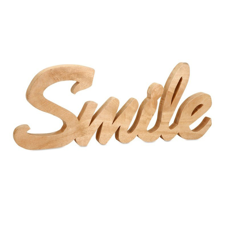 IMAX Smile Mango Wood Wall Decor (84558)