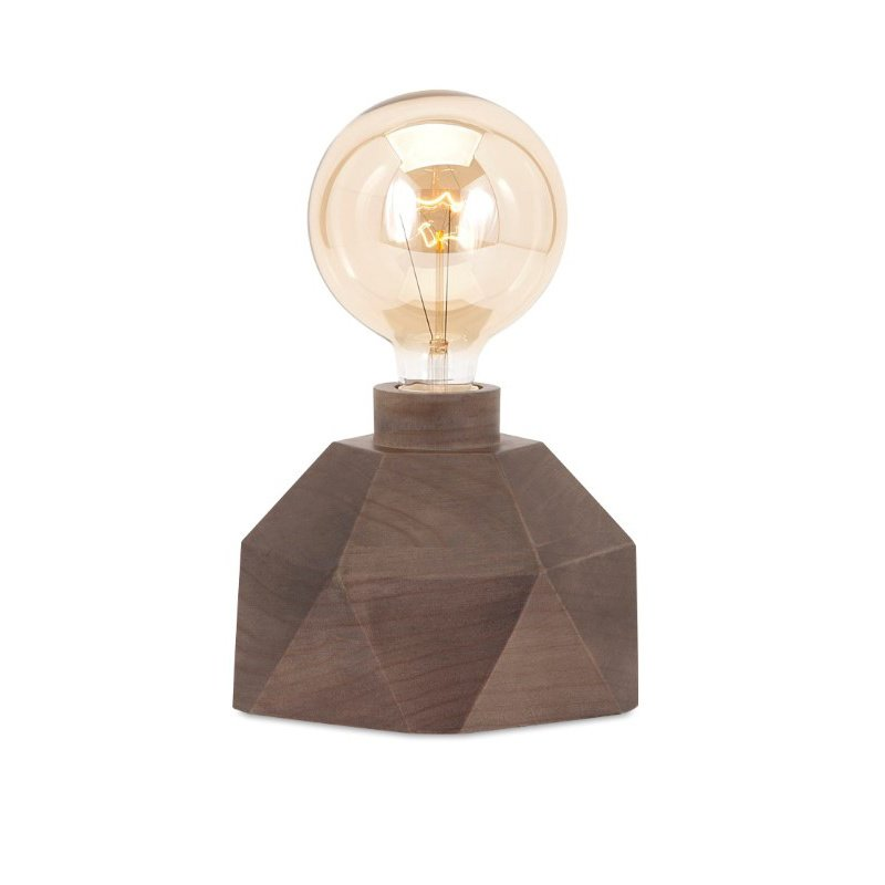 IMAX Velocity Wood Table Lamp with Edison Bulb (89989)