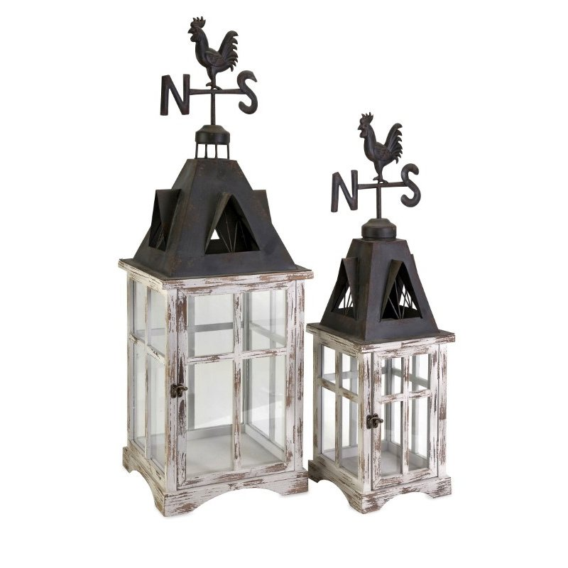 IMAX Weather Vane Lanterns - Set of 2 (89067-2)