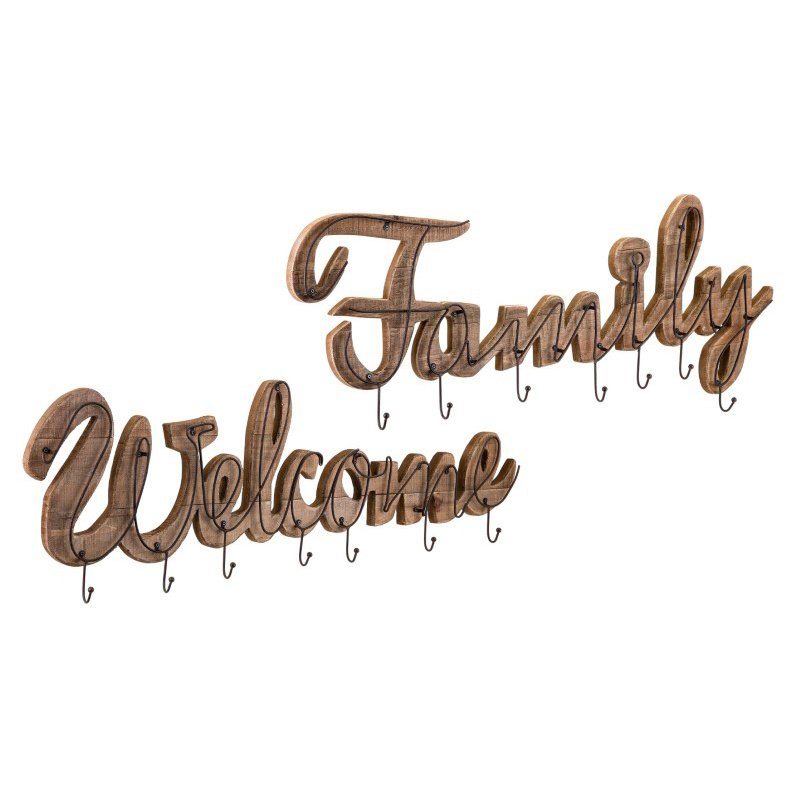 IMAX Welcome and Family Wall Hooks - Set of 2 (18343-2)