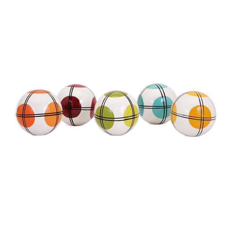IMAX Winslow Decorative Ceramic Balls - Set of 5 (A0511711)