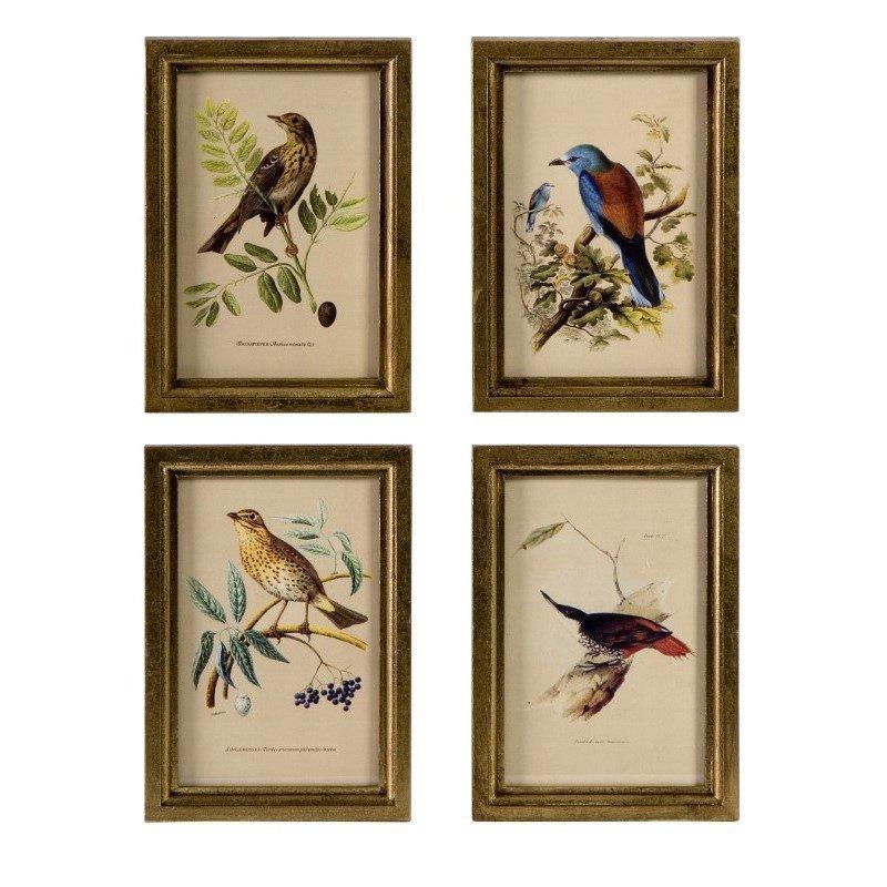 IMAX Wooden Bird Plaques - Set of 4 (16125-4)
