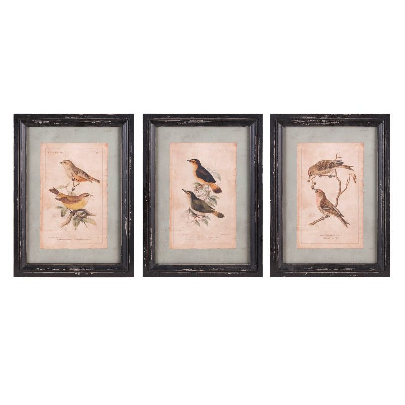 IMAX Woodland Bird Wall Decor - Set of 3 (A0397322)