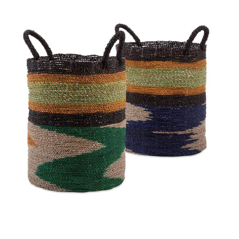 IMAX Zephon Seagrass Baskets - Set of 2 (11652-2)