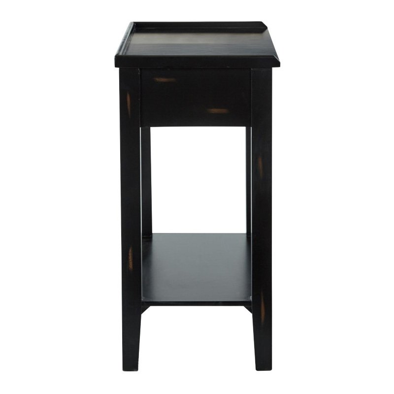 INSPIRED by Bassett Fairway 2 Drawer Foyer Table in Antique Black Finish