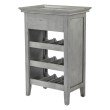 INSPIRED by Bassett Portofino Wine Cabinet in Antique Grey Finish