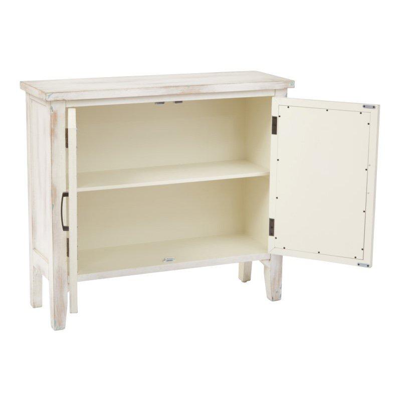 INSPIRED by Bassett Ridgefield Storage Cabinet in Rustic Beige Finish