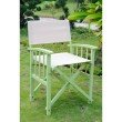 International Caravan 2-Piece Directors Chair with Mission Style Arms in Mint Green & Khaki