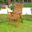 International Caravan 2-Piece Freeport 5-Position Folding Arm Chair in Brown Stain