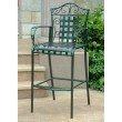 International Caravan 2-Piece Mandalay Iron Bar Height Chair in Verdi Green