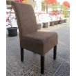 International Caravan 2-Piece Philip Upholstered Dining Chairs in Brown