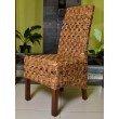 International Caravan 2-Piece Victor Woven Abaca Dining Chair in Salak Brown