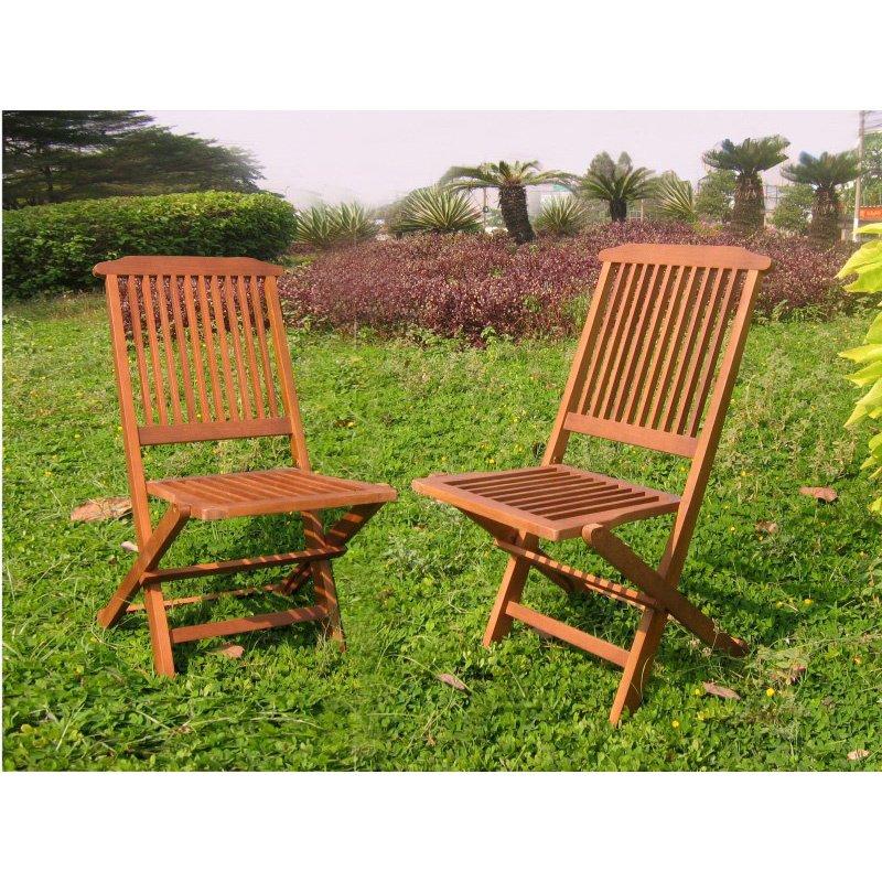 International Caravan Acacia Folding Chair in Brown