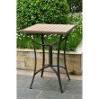 International Caravan Barcelona 32 inch Square Resin Wicker and Aluminum Bar Table in Antique Brown