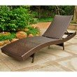 International Caravan Barcelona Aluminum and Resin Chaise Lounge in Chocolate