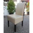 International Caravan Beige Faux Leather Philip Dining Chair in Light Brown