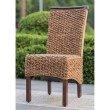 International Caravan Bunga Hyacinth Dining Chair (Set of 2) in Salak Brown