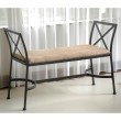 International Caravan Foot-Of-Bed Bench with Cushion in Java