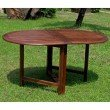 International Caravan Highland Acacia Miami Oval Gate Leg Folding Dining Table in Brown