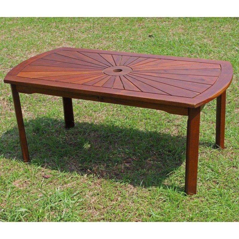 International Caravan Highland Acacia Sunburst Coffee Table in Brown