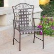 International Caravan Mandalay 2-Piece Iron Chairs in Bronze