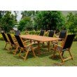 International Caravan Paloma Royal Tahiti Rectangular Dining Set in Stain