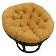 "International Caravan Rattan 42"" Papasan Chair with Micro Suede Cushion in Lemon"
