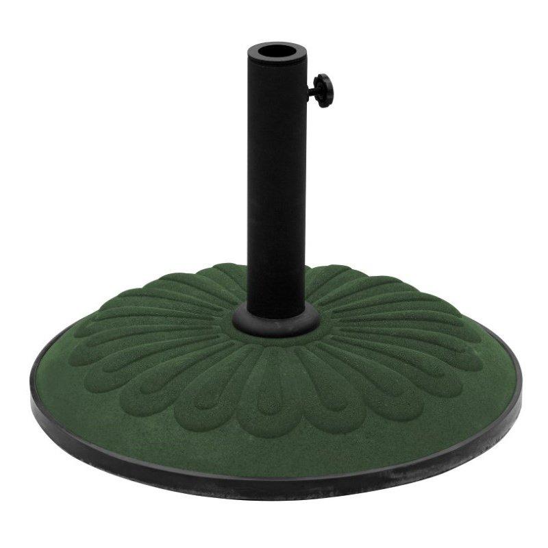 International Caravan Resin Sunflower Umbrella Stand in Dark Green