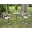 International Caravan Resin Wicker Outdoor 3-Piece Bar-Height Bistro Set in Antique Moss