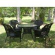 International Caravan Riviera 5-Piece Outdoor Dining Set in Antique Black