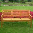 International Caravan Royal Tahiti Bar Harbor 3 Seat Bench in Brown Stain