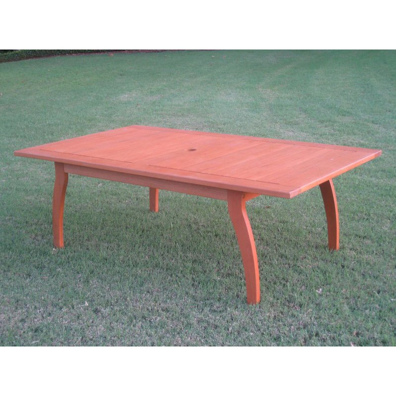 International Caravan Royal Tahiti Outdoor Rectangular Coffee Table in Brown Stain