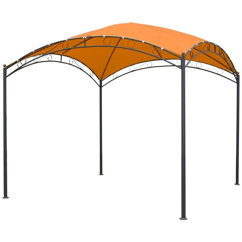International Caravan Square 10' Dome Top Gazebo in Terra Cotta and Bronze