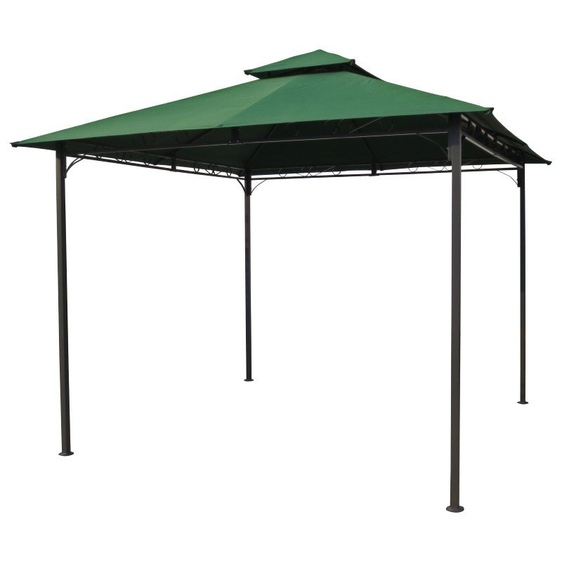 International Caravan Square Vented Canopy Gazebo in Forest Green