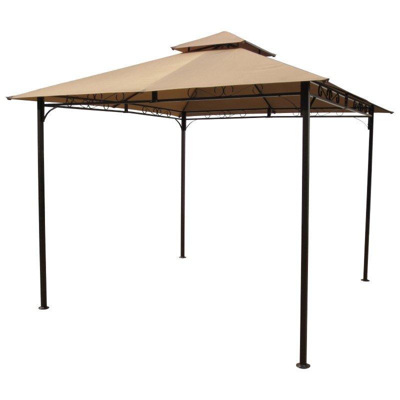 International Caravan Square Vented Canopy Gazebo in Khaki