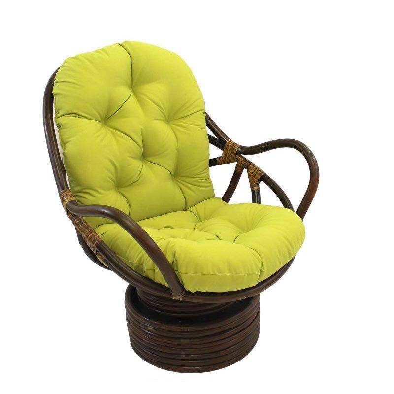 International Caravan Swivel Rocker with Twill Cushion in Mojito Lime