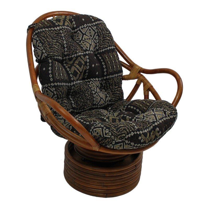 International Caravan Tapestry Cushion Rocker in Congo