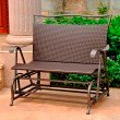 International Caravan Valencia Resin Wicker and Steel Double Glider in Chocolate