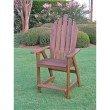 International Caravan Wood Adirondack Bar Chair in Brown