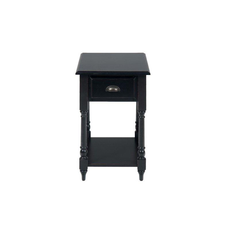Jofran Antique Black Chairside Table