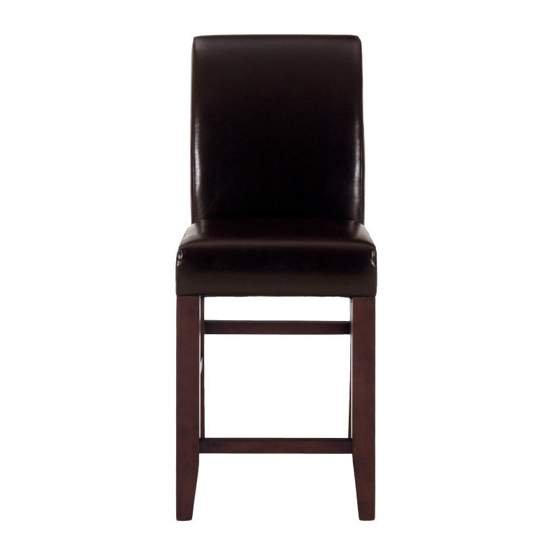 Jofran Bonded Leather Counter Height Stool (Set of 2)