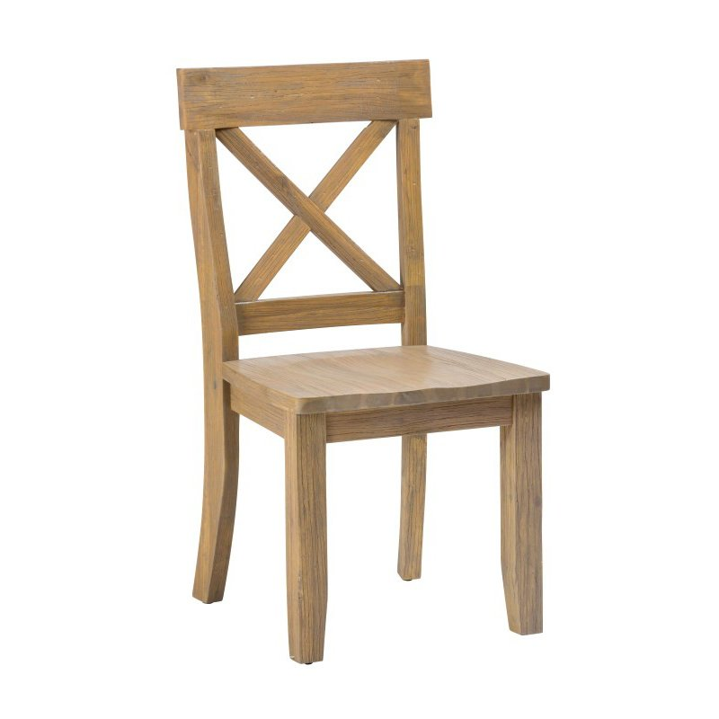 "Jofran Boulder Ridge ""X"" Back Side Chair (Set of 2)"