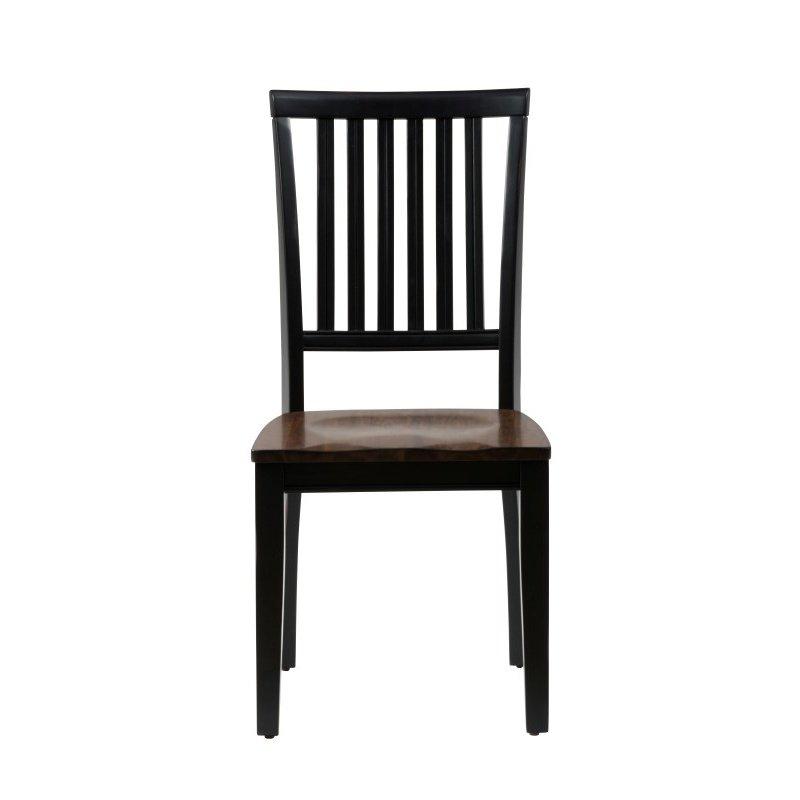 Jofran Braden Antique Black Slat Back Chair (Set of 2)