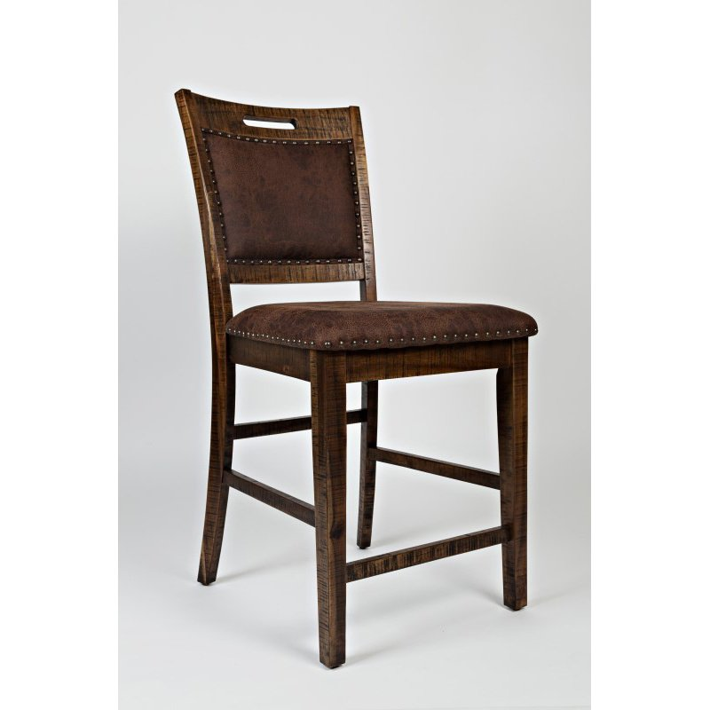 Jofran Cannon Valley Upholstered Back Counter Stool (Set of 2)