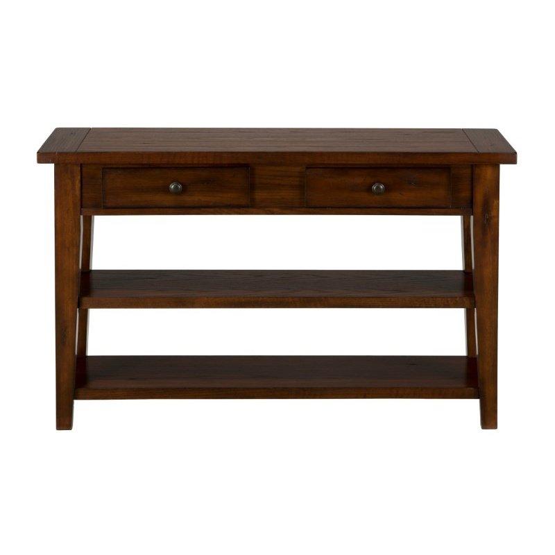 Jofran Clay County Oak Sofa and Media Table